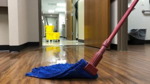 Medical Office Being Professionally Cleaned