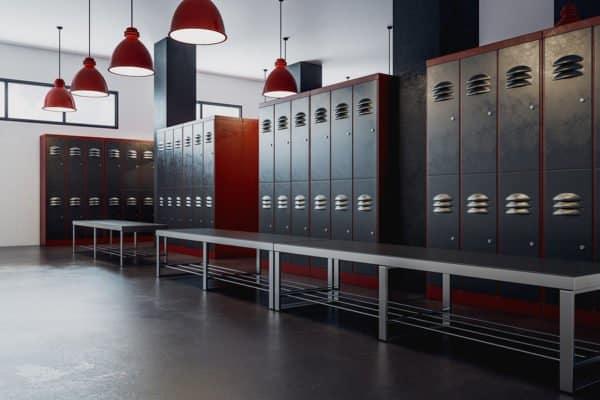 clean gym locker room