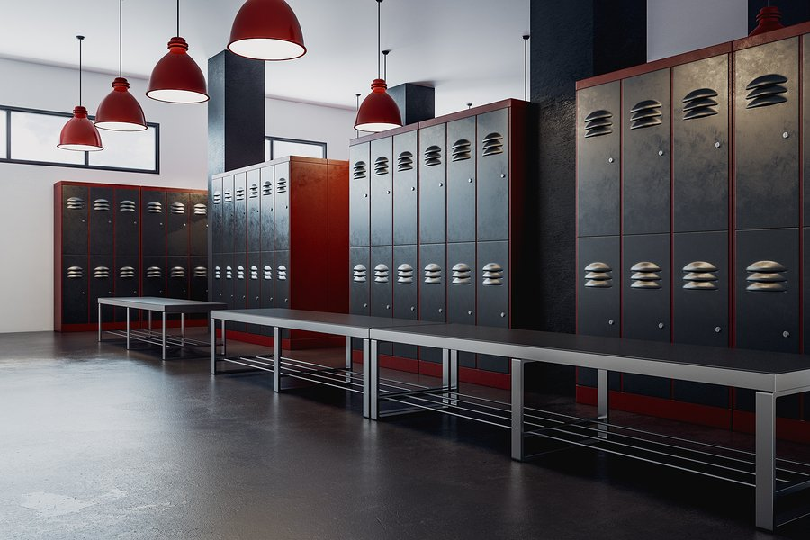 clean gym locker room