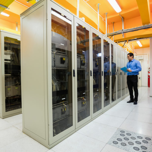Clean Server Room With Shining Floors